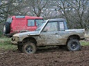 2 modified Landrover Discoveries