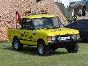 Yellow Range Rover pick up
